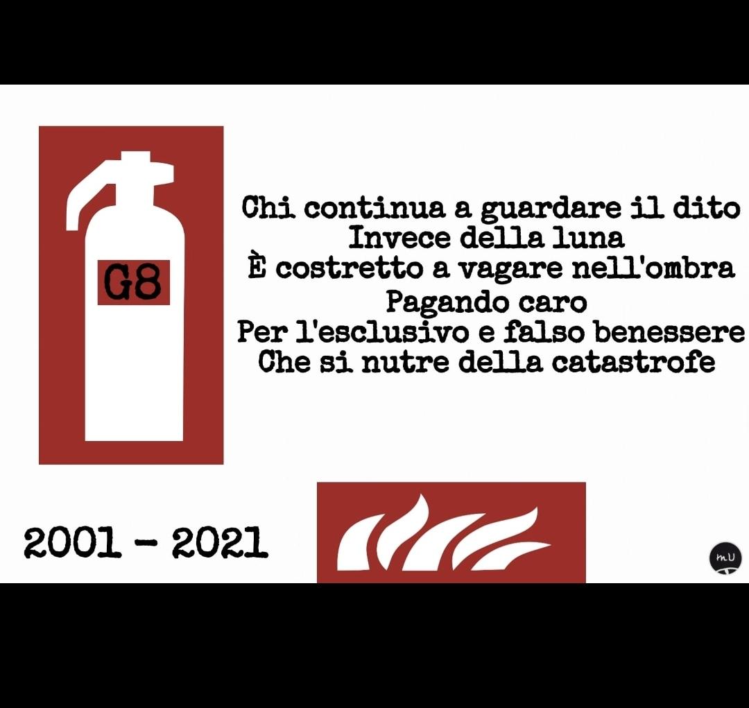 G8 Genova poesia